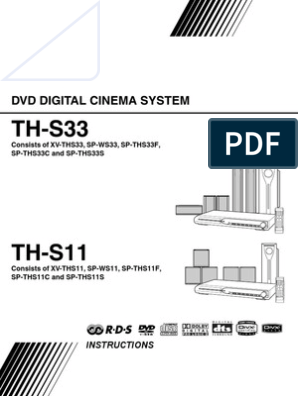 Th-s11, Th-ss3 Dvd Jvc Manual   Compact Disc   Information ... on