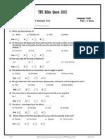 Bible Quiz 2012 Vol 4
