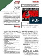 Diptico Marcha a Madrid 15 de Setiembre