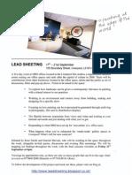 Lead Sheeting