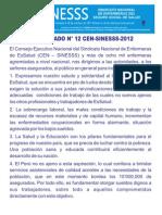 COMUNICADO N° 12_1SINESSS