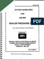 Erection Guidelines for 500 Mw Boiler Pressure Parts