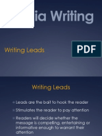 Writing Leads PowerPoint by Glenn Gilbert