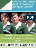 Primer Congreso Nacional sobre la Enseñanaza de la FILOSOFIA en la Educación Media Superior
