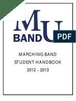 2012 Marching Band Handbook Final