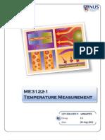 ME3122E-Heat Transfer Lab a-Temperature Measurement