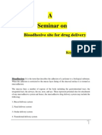 Seminar on Bioadhesive Site for Drug Delivery