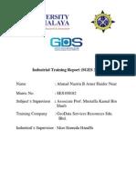 Industrial Training Report 2