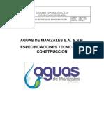Especificaciones de Construccion Aguas de Manizalez