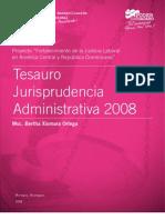 Nicaragua - Tesauro Jurisprudencia Administrativa 2008 - Bertha Xiomara Ortega Carrillo