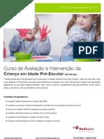 Curso de Avaliação e Intervenção da                           Criança em Idade Pré-Escolar