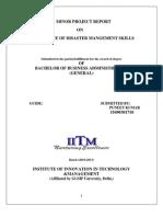 Puneeet- Disaster Management