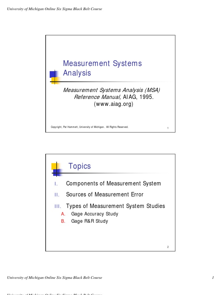 19 measure systems gagerr 1 standard deviation engineering rh scribd com measurement system analysis manual free download measurement system analysis manual