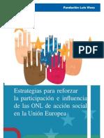Estrategias para reforzar la participación e influencia de las ONL de acción social de la Unión Europea