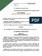 LEY GENERAL DE EDUCACIÓN 2012