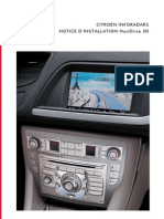 CITROËN InfoRadars - Notice - NaviDrive 3D