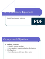 Obj. 3 Quadratic Equations (Presentation)