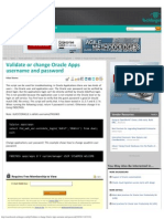 Validate or Change Oracle Apps Username and Password