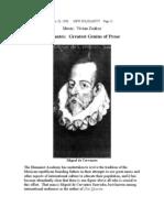 Cervantes - Greatest Genius of Prose