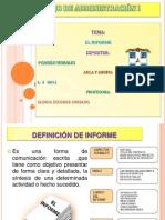 Presentación sobre el Informe