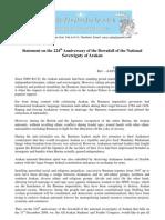 AASYC Statement on 224th Arakan Sovereignty Fallen Day