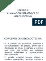 Unidad III Planeacion Estrategica de Mkt