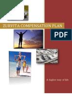 """Zurvita """"Zeal for Life"""" Compensation Plan"""