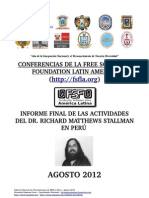 Conferencias de La Free Software Foundation Latin America -2012