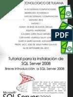 Instalacion de SQL Server 2008 en windows 7