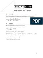 Spring 12 QMB3250 Exam 1 Applicable Spring 11 Exam 1 Solutions