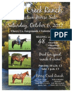 Berry Creek Ranch Horse Sale