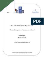 Proceso Estatuyente en el departamento de Oruro