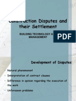 Construction Disputes and Their Settlement