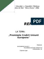 Premizele Crearii Uniunii Europene