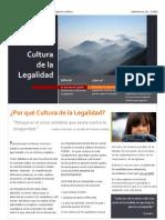 Boletin Cultura de la Legalidad para la Iglesia Catolica