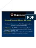 TRG-Onboard Versus Off-board Navigation