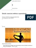 Estudo_ exercício melhora o aprendizado « Direito Turma B