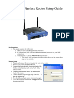 Linksys Router Setup Documentation