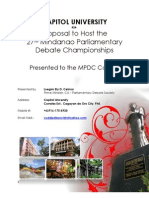 CU's Proposal to Host the 27th MPDC.