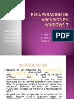 Recuperacion de archivos en Windows 7