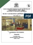Fluid Mechanics - Tksct Lab Manual