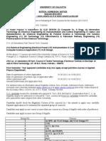 Admission Notice M.tech2012 2013 Website