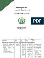 Implementation Plan of Framework for Economic Growth, Pakistan - Prepared by Dr. S. M. Younus Jafri, Advisor Pakistan Planning Commission