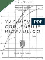Yacimientos con empuje hidráulico - Ramiro Pérez Palacio - 1969
