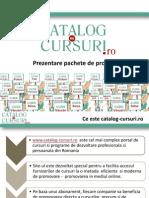 Prezentare Pachete Promovare Catalog-cursuri - Sept 2012