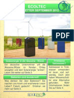 Newsletter Sept Deutsch ECOLTEC