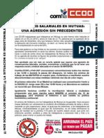 Recortes salariales en Mutuas. Una agresión sin precedentes
