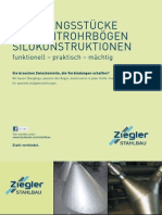 Ziegler Stahlbau Übergangsstücke, Segmentrohrbögen, Silokonstruktionen