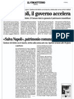il Mattino 7.9.12 - Salva-Napoli, il governo accelera