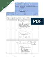 Tentative EFN Asia Conference 2012 Programme